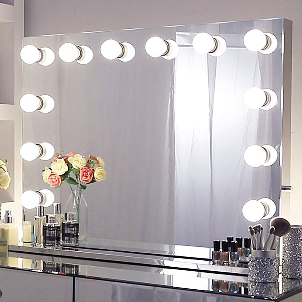 Hollywood Makeup Mirror For Wall Large Makeup Vanity