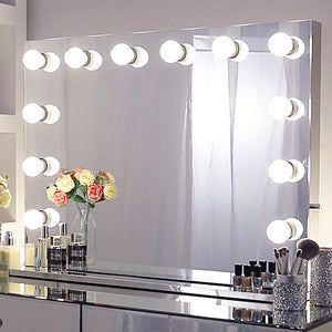 Chende Hollywood Vanity Lights Mirror, Wall Mounted Makeup Mirror with Dimmer for Dressing Room