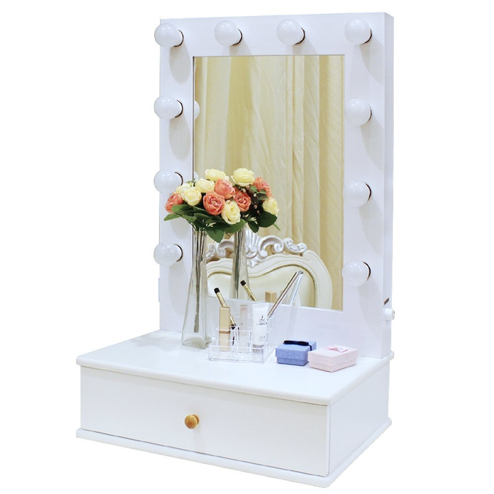 Makeup Vanity.Chende Hollywood Makeup Vanity Mirror With Light Tabletops Lighted Mirror With Dimmer Led Illuminated Cosmetic Mirror With Led Dimmable Bulbs