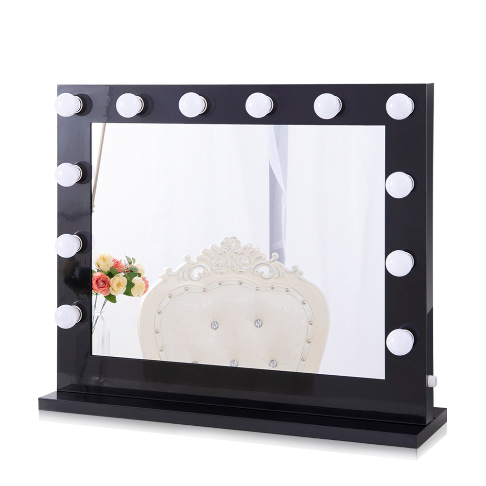Chende Large White Hollywood Vantiy Mirror with Lights