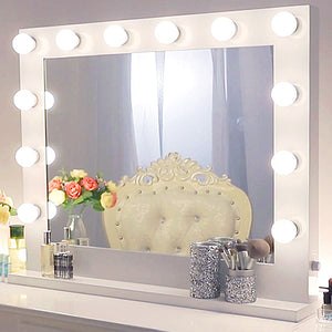 Hollywood Vanity Mirror with Lights and Dimmer, Lighted Makeup Mirror for Vanity Table, Chende