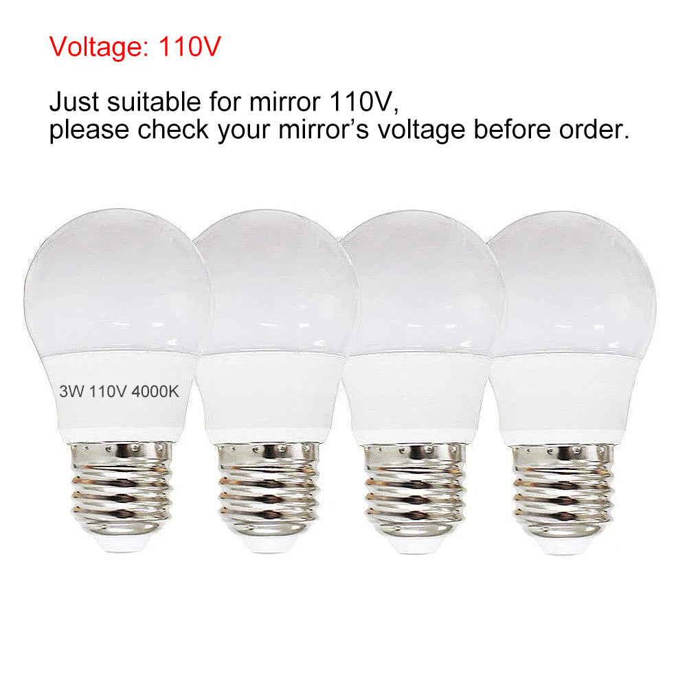 Hollywood Mirror LED Dimmable Bulbs, Chende 4PCS Vanity Mirror Light Bulbs