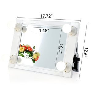 Chende Portable Hollywood White Lighted Vanity Mirror