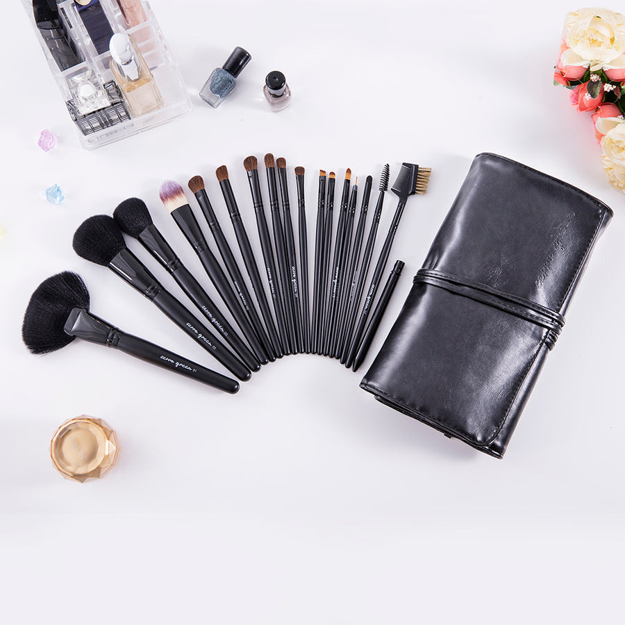 Chende 18PCS Pro Makeup Brushes Set Kit Powder Foundation Eyeshadow Eyeliner Lip Comestic Tool