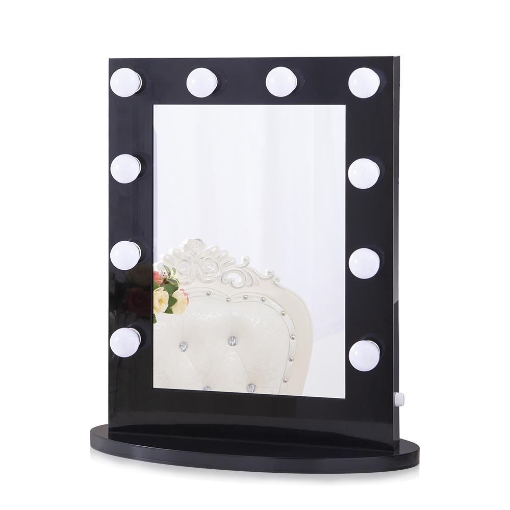 Chende Hollywood Vanity Lights Mirror,  Wall Mounted Makeup Mirror for Dressing Table, White Black