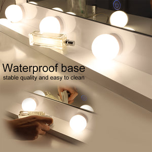 Chende Hollywood Makeup Mirror Lighted Vanity Mirror with 14 LED Dimmable Bulbs, 3 Light Color Convert
