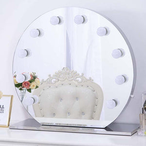 Chende Round Hollywood Vanity Mirror with Lights, Tabletop Design Makeup Mirror with Dimmer