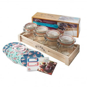 Kilner Hinged Jars Canning Gift Set - 31 Pc