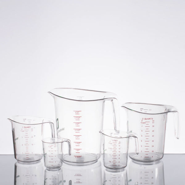 WebstaurantStore Logo 5-Piece Clear Polycarbonate Measuring Cup Set