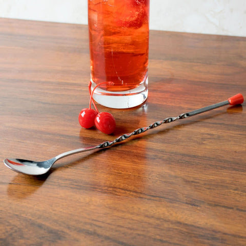 "11"" Red Ball Bar Spoon"