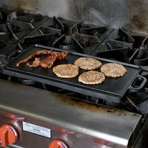 "20"" x 9 1/2"" Cast Iron Portable Griddle Reversible"