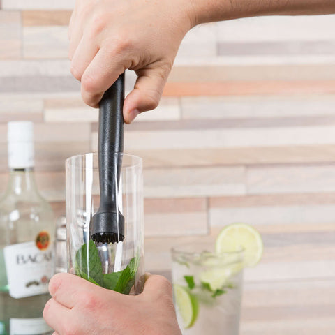"8 1/2"" Mojito Bar Muddler with Tenderizer Head"