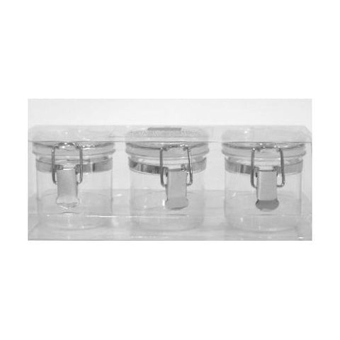 OGGI Acrylic Airtight Canister Mini Set of 3