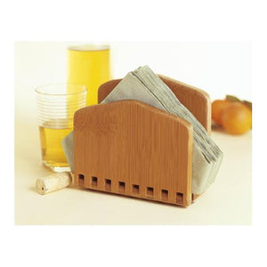Lipper International Adjustable Bamboo Napkin Holder