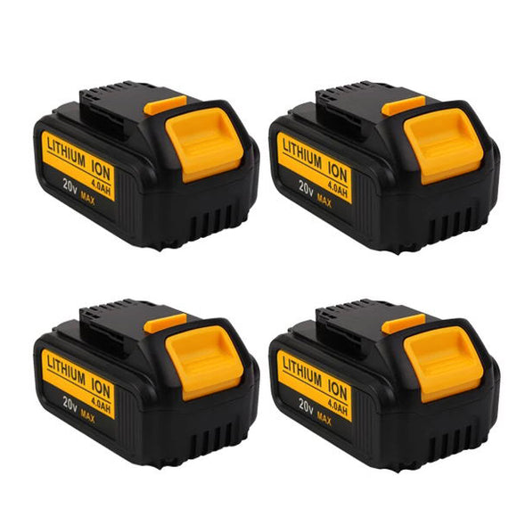 For Dewalt 20V Battery Replacement | DCB200 4.0Ah Li-ion Battery 4 Pack