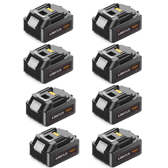 For Makita 18V Battery 6.0Ah Replacement | BL18060B Batteries 8 Pack