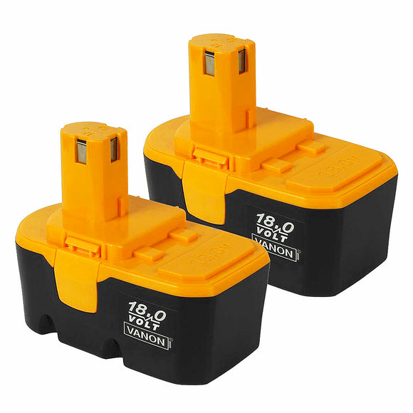 For Ryobi 18V Battery Replacement | P100 3.0Ah Ni-CD Battery 2 Pack