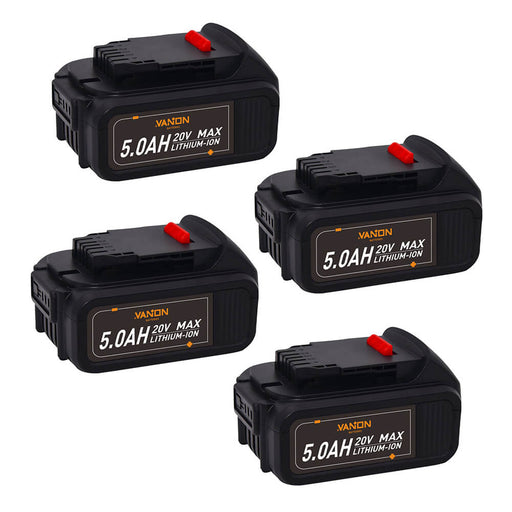 For Dewalt 20V Battery Replacement 5Ah | DCB205 Batteries 4Pack