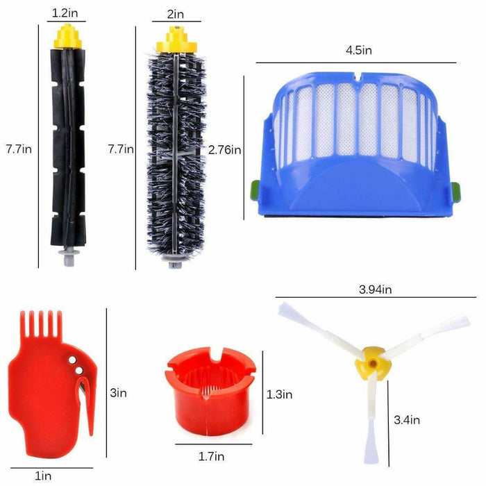 Replacement Kit Vacuum Parts for iRobot Roomba 600 Series 690 680 660 650(10PCS )