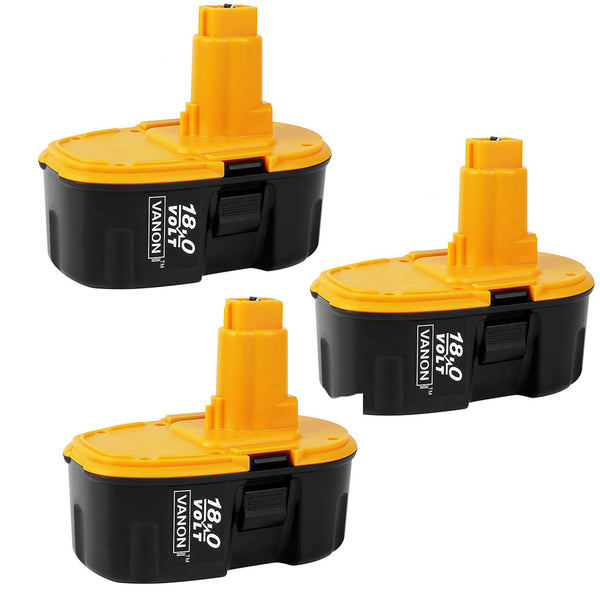 3 Pack For Dewalt 18V XRP Battery Replacement | DC9096 2.0Ah Ni-CD Battery