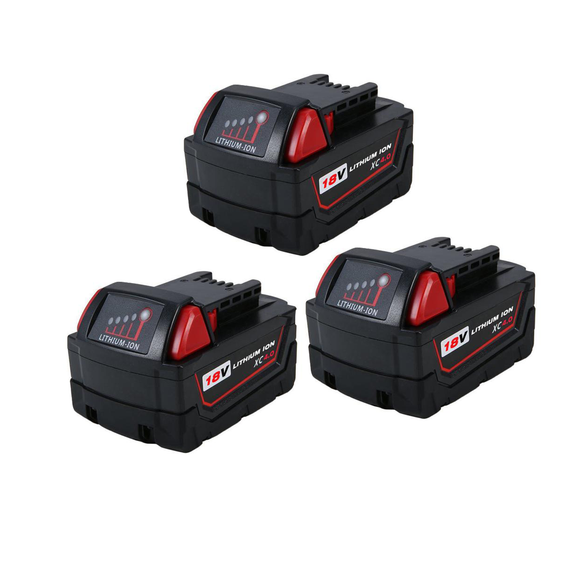 For Milwaukee 18V M18 Battery 4.0Ah Replacement | 48-11-1840 Li-Ion Battery 3 Pack