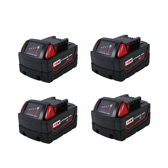 For Milwaukee M18 Battery 18V 4Ah Replacement | 48-11-1840 Li-Ion Battery 4 Pack