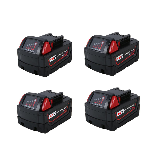 4 Pack For Milwaukee 18V M18 XC4.0Ah Battery Replacement | 48-11-1840 Li-Ion Battery