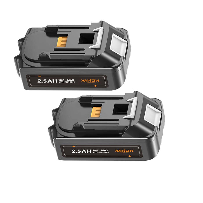 For Makita 18V Battery Replacement | BL1815 2.5Ah Li-ion Battery 2 Pack