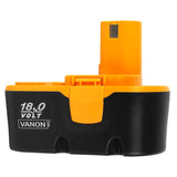 For Ryobi 18V Battery Replacement | P100 3.0Ah Battery 2 Pack