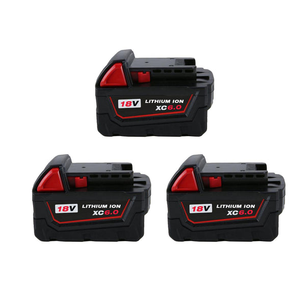 For Milwaukee 18V 6.0Ah Battery Replacement | 48-11-1850 Li-ion Battery 3 Pack | Vanonbatteries