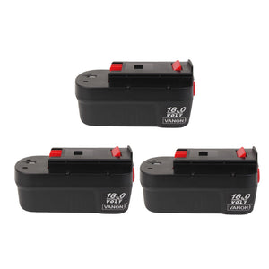 For Black and Decker 18V Battery Replacement | HPB18 3.0Ah Ni-CD 3 Pack