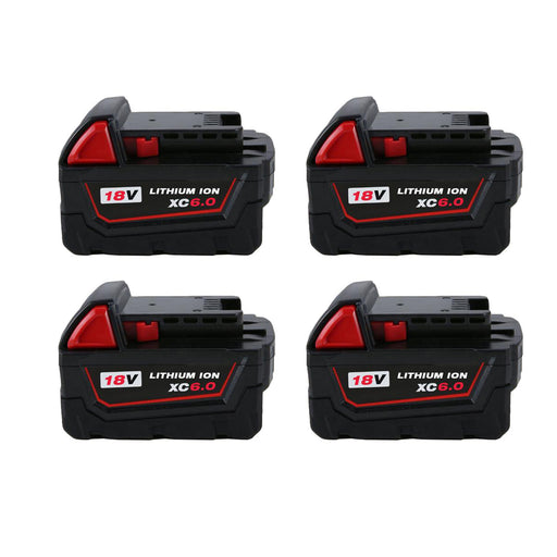 For Milwaukee 18V 6.0Ah Battery Replacement | 48-11-1850 Li-ion Battery 4 Pack | Vanonbatteries