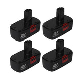 For Craftsman 19.2V Battery Replacement | 130279005 3.0Ah Ni-CD Battery 4 Pack