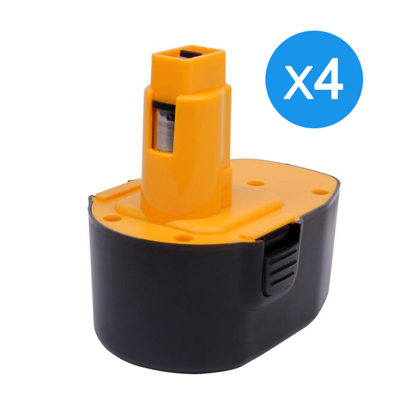 For Dewalt 14.4V Battery Replacement | DC9091 2.0Ah Ni-CD Battery 4 Pack