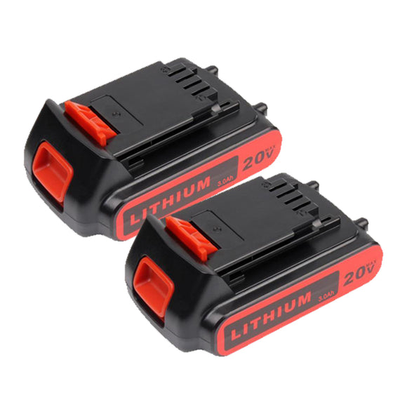 For Black and Decker 20V Battery 2.0Ah Replacement  |  LBXR20 Battery 2 Pack