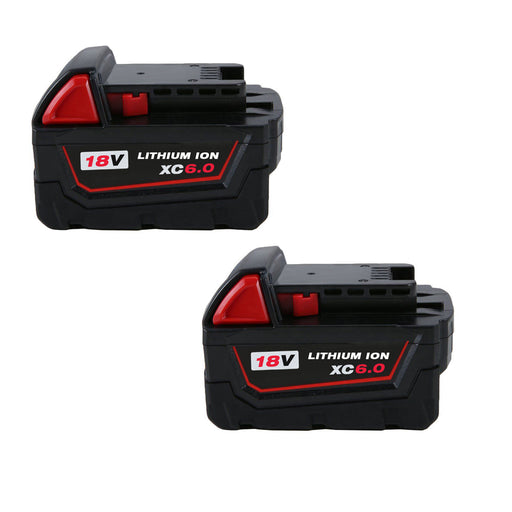 For Milwaukee 18V 6.0Ah Battery Replacement | 48-11-1850 Li-ion Battery 2 Pack | Vanonbatteries