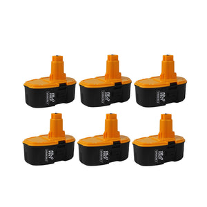 4 Pack For Dewalt 18V XRP Battery Replacement | DC9096 2.0Ah Ni-CD BatteryFor DeWalt 18V Battery Replacement | DC9099 3.0Ah NI-CD Battery 6 Pack