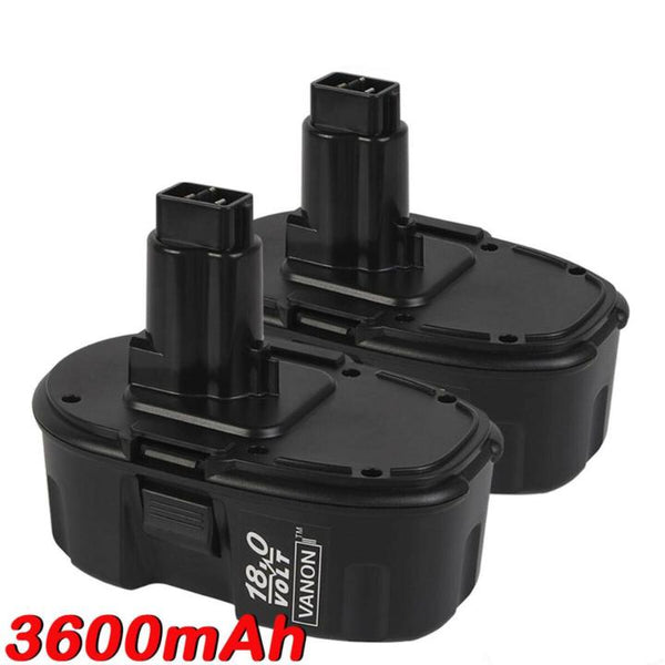For Dewalt 18V XRP Battery Replacement | DC9096 DC9098 3600mAh Ni-MH Battery (2 Pack)