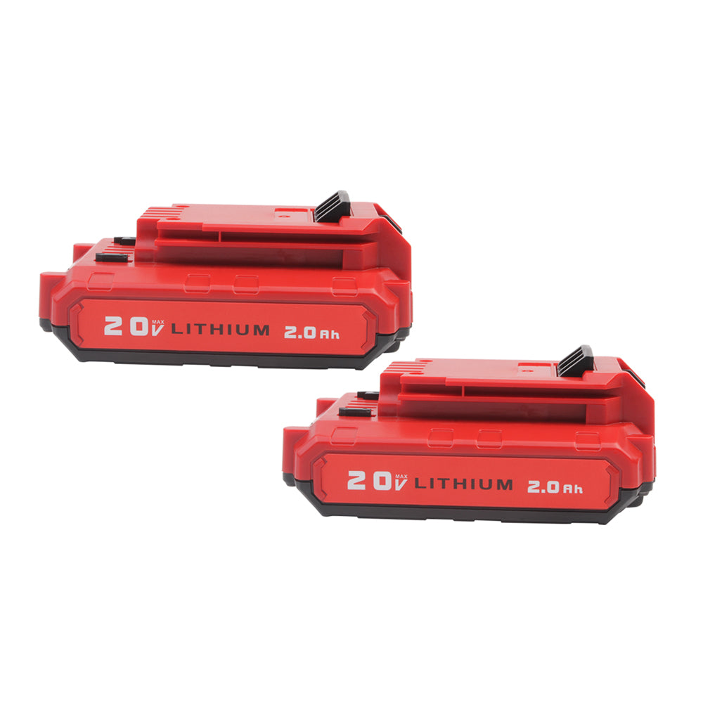 For Porter Cable 20V Battery Replacement | PCC680L 2.0Ah Li-ion Battery 2 Pack