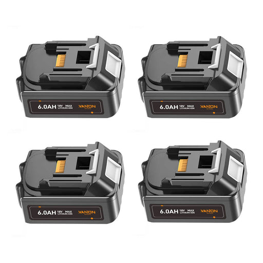 For Makita 18V Battery 6Ah Replacement | BL18060B Batteries 4 Pack