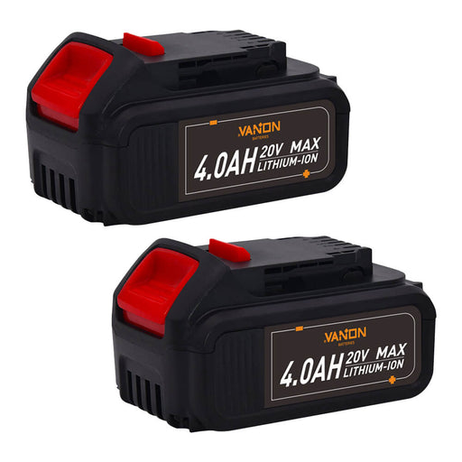 4.0Ah For Dewalt 20V Battery Replacement | DCB200 Batteries 2 Pack