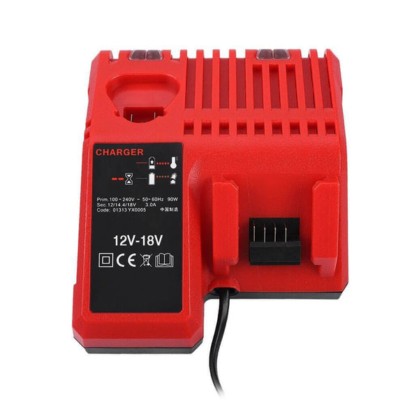 For Milwaukee Battery Charger 12V-18V | M 12-18C Charger Replacement | 12V & 18V Rapid Charger