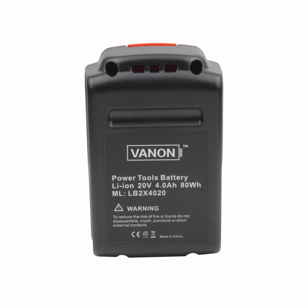 For Black and Decker 20V Battery Replacement | LB20 LBX20 LBXR20 4.0Ah Lithium-Ion Battery - Vanonbattery