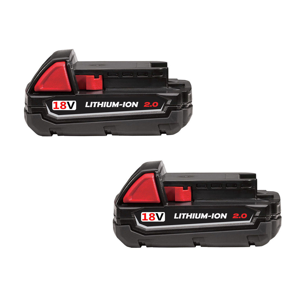 For Milwaukee 18V Battery Replacement | M18 2.0Ah Li-Ion Battery 2 Pack | Vanonbatteries