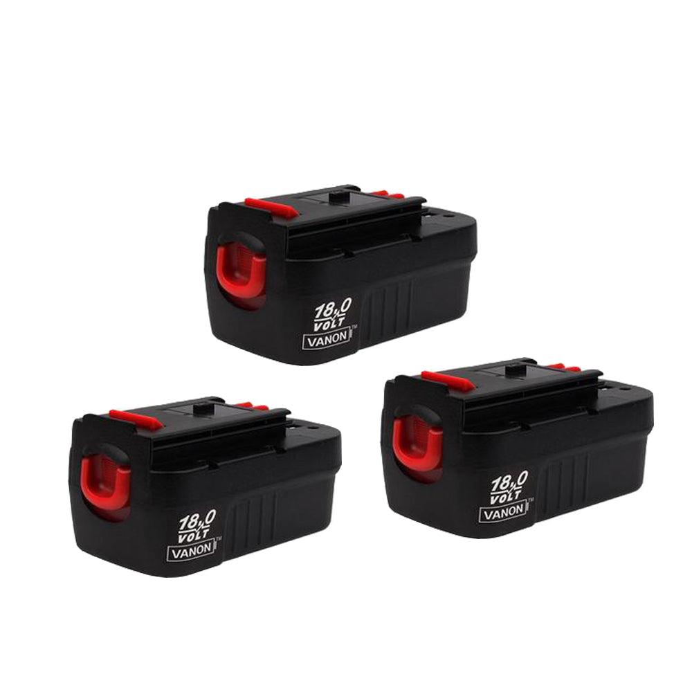 For Black and Decker 18V Battery Replacement | HPB18 2.0Ah Ni-Cd Battery 3 Pack