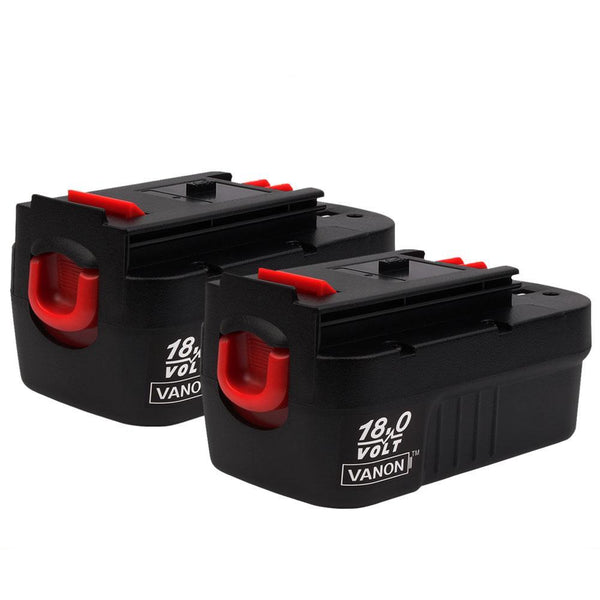 For Black and Decker 18V Battery Replacement | HPB18 2.0Ah Ni-Cd Battery 2 Pack | Vanonbatteries