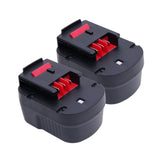 2x For Black and Decker 12V HPB12 Battery Replacement |  2.0Ah NiCd Battery - Vanonbattery