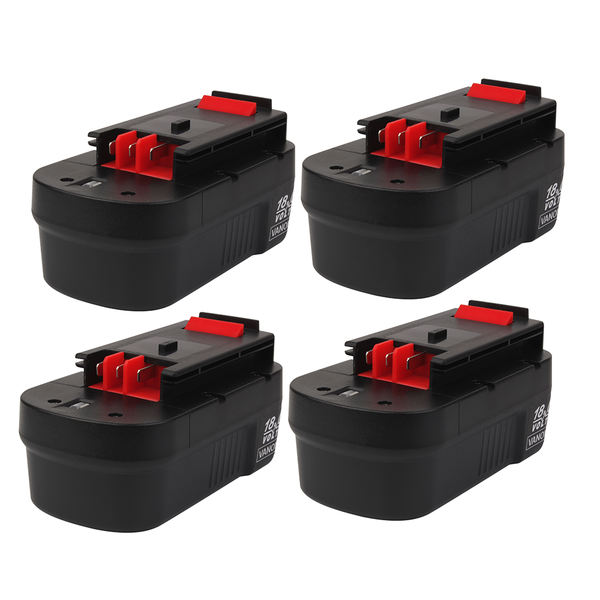 4 Pack For Black and Decker 18V HPB18 Battery Replacement | 244760-00 2.0Ah Ni-Cd Battery