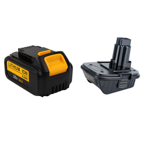 For Dewalt 20V 4.0Ah Battery Replacement With Vanon 18v to 20v Adaptor | Special Combo