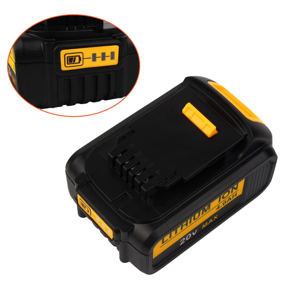 For Dewalt 20V Battery Replacement | DCB200 4.0Ah Li-ion Battery 2 Pack - Vanonbattery